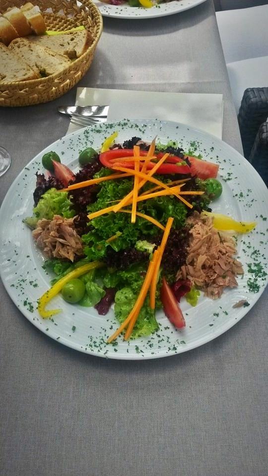 Bunte Blattsalate mit Thunfisch