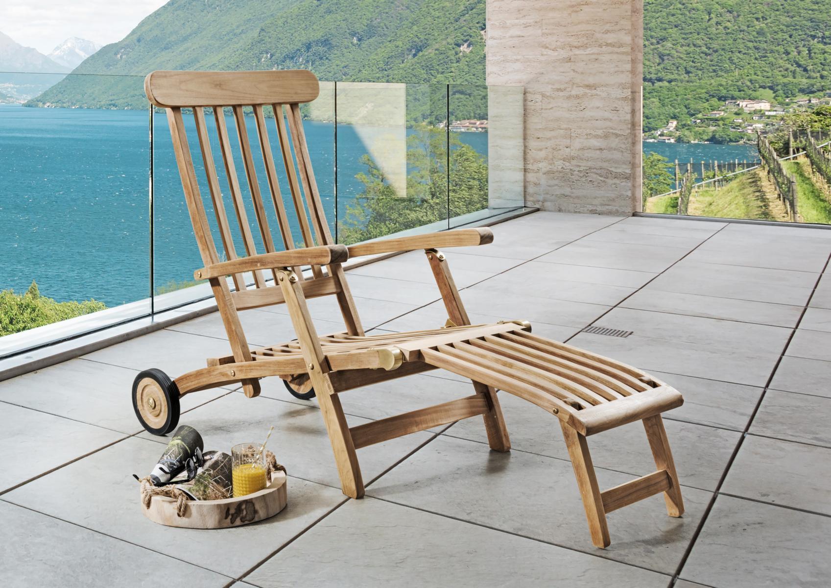 Deckchair mit abnehmbarem Fu/ßteil