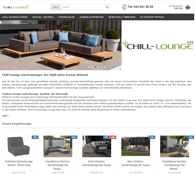 Chill-Lounge.ch - Outdoor Möbel und Lounges