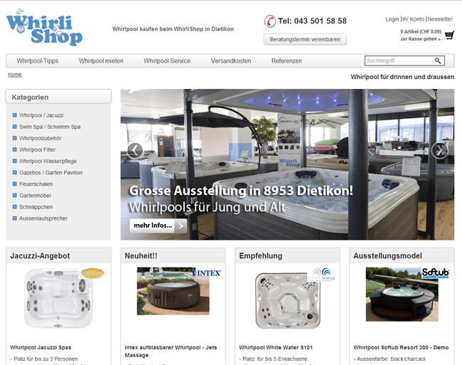 WhirliShop.ch - Whirlpools, Outdoor Lounges, Feuerstellen uvm.