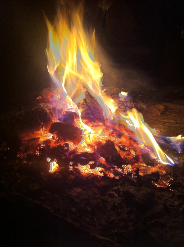 Element Feuer entspricht dem Sommer