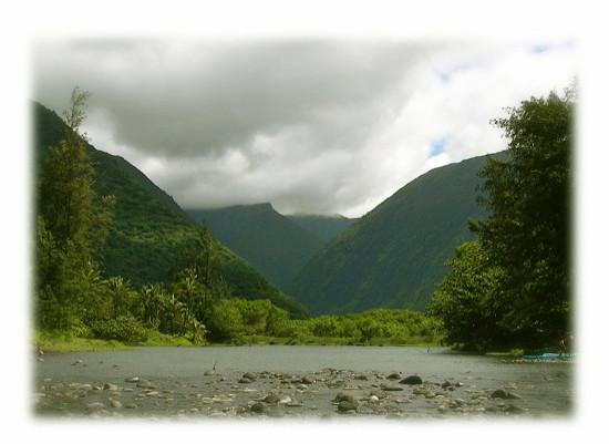 ハワイ島ワイピオ渓谷