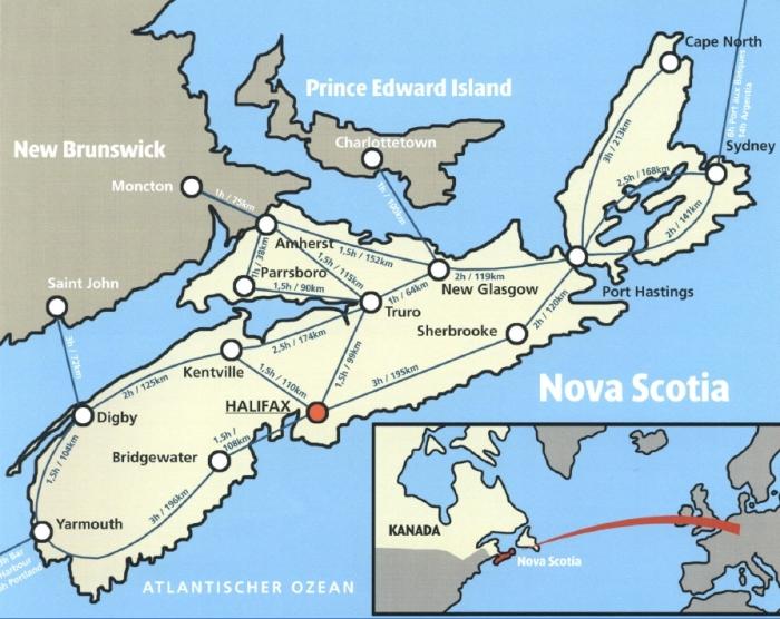Nova Scotia im Osten von Kanada, präsentiert von VERDE Immobilien