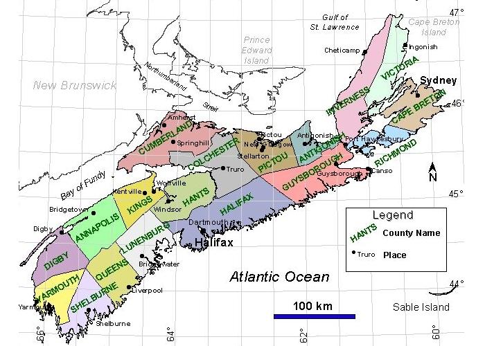Die Countys von Nova Scotia, präsentiert von VERDE Immobilien