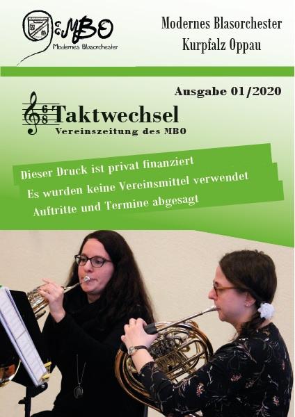 """""""Taktwechsel"""" - die aktuelle Ausgabe der Vereinszeitschrift des Modernen Blasorchesters Kurpfalz-Oppau (Bildrechte: MBO)"""