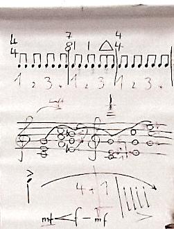 Musiktheorie am Flip-Chart: wer beim Projektorchester Klang dabei war, hat von Thomas Wieser Werkzeuge für die Orchesterpraxis mitbekommen (Bildrechte: MBO)