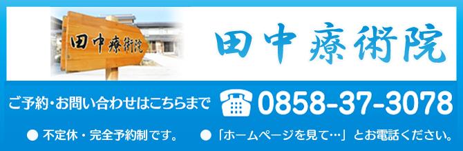 鳥取県倉吉市北栄町 田中療術院 背中のコリ、痛み
