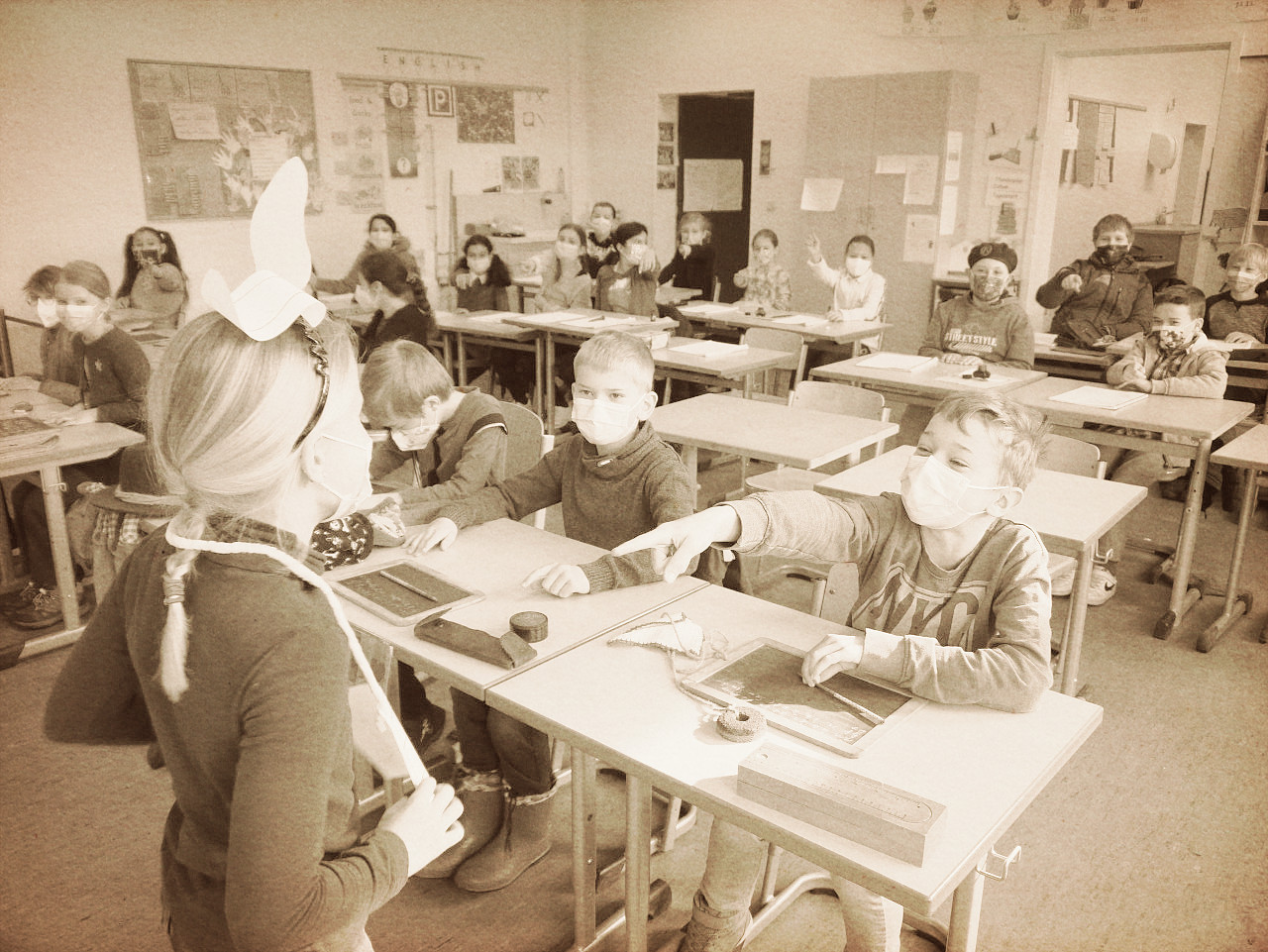 Schule vor 125 Jahren - Klasse 3d