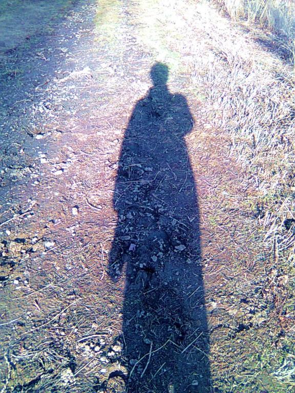 Meine Schatten vor und nach der Erdung