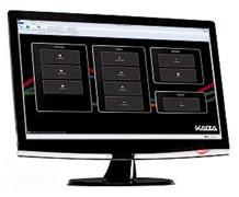 Die Software Kaba evolo Manager ermöglicht die zentrale Berechtigungsverwaltung am PC.