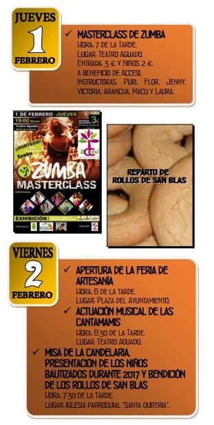 Programa del Mercado Medieval y San Blas en Elche de la Sierra