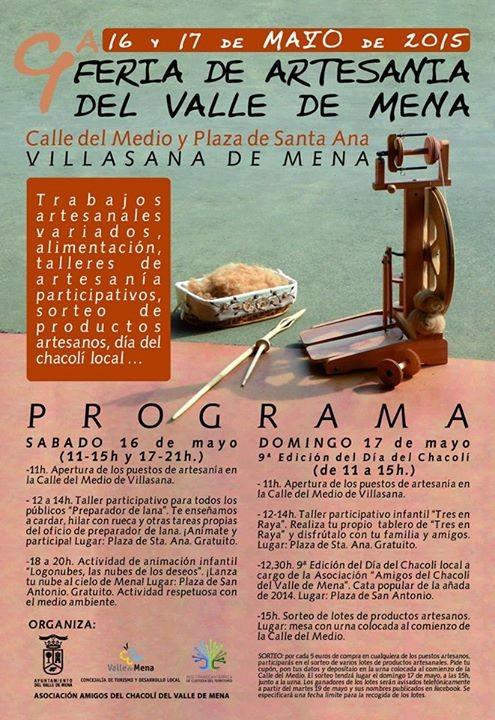 Programa de la Feria de Artesanía en el Valle de Mena