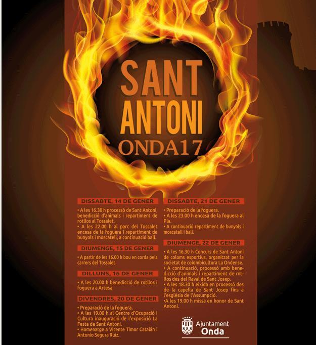 Programa de Sant Antoni en Onda