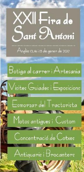 Programa de la Fira de Sant Antoni en Angles