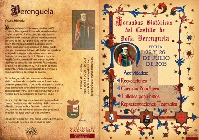 Programa de las Jornadas Históricas en Bolaños de Calatrava