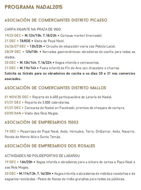 Programa Navidad en A Coruña - Nadal