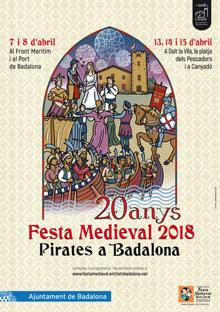 Programa de la Festa Medieval Pirates a Badalona 2016