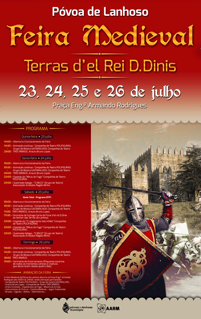 Programa Feira Medieval de Póvoa de Lanhoso