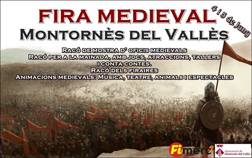 Programa de la Fira Medieval en Montornés del Vallés