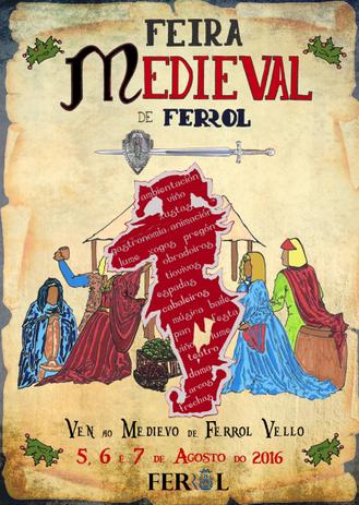 Programa de la Feria Medieval en Ferrol