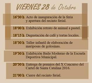 Programa de la Feria de Artesanía de El Granado