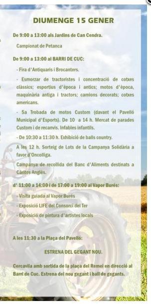 Programa de Sant Antoni en Angles