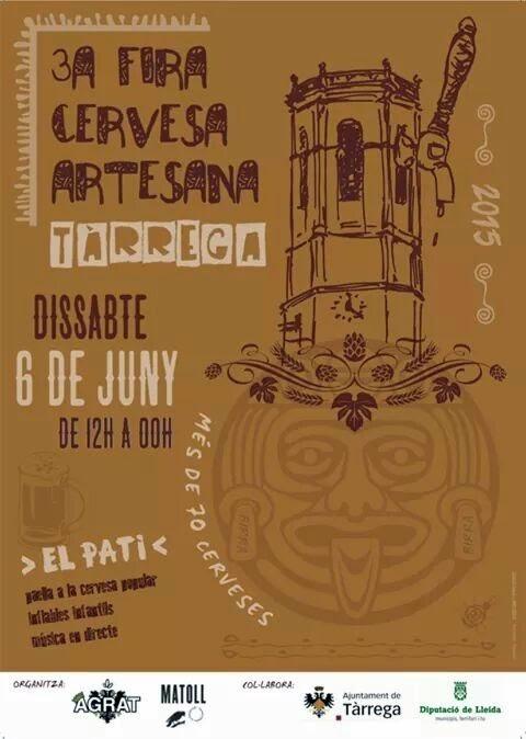 Cartel de la 3ª Fira de la Cervesa Artesana en Tàrrega