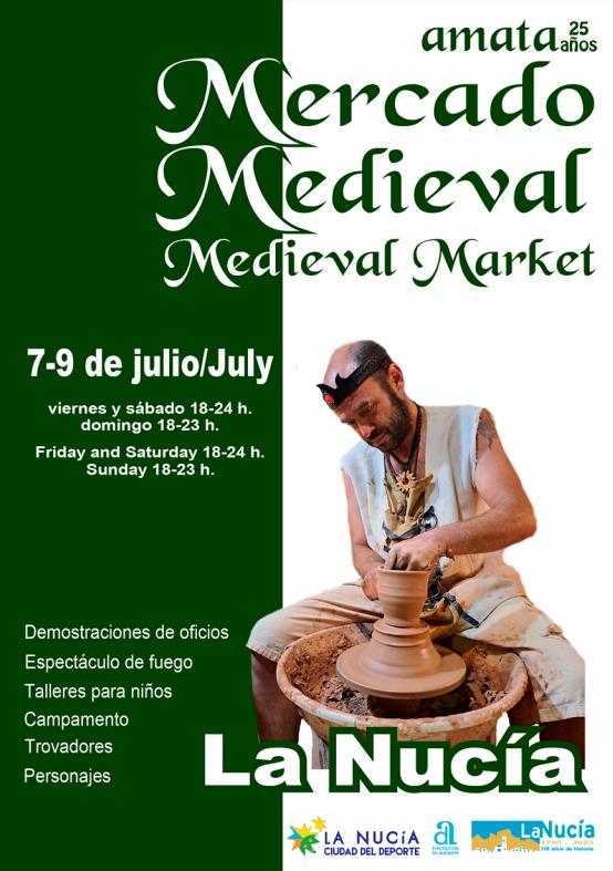 programa del Mercado Medieval de la Nucia