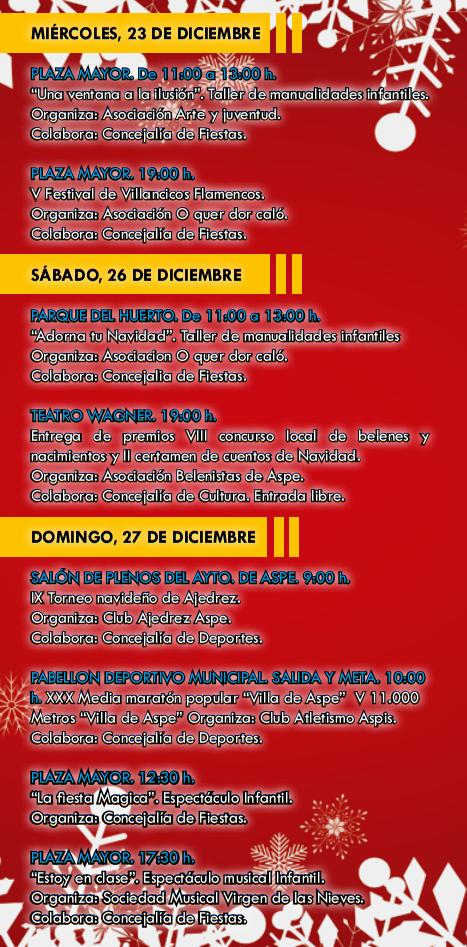 Programa de Navidad de Aspe