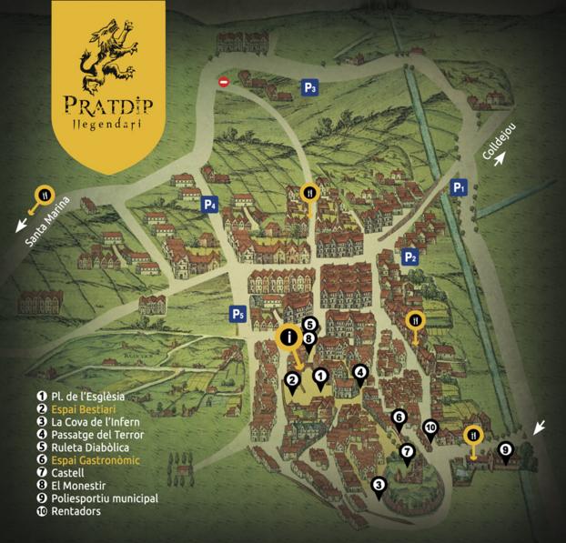 Pratdip Llegendari 2015 mapa