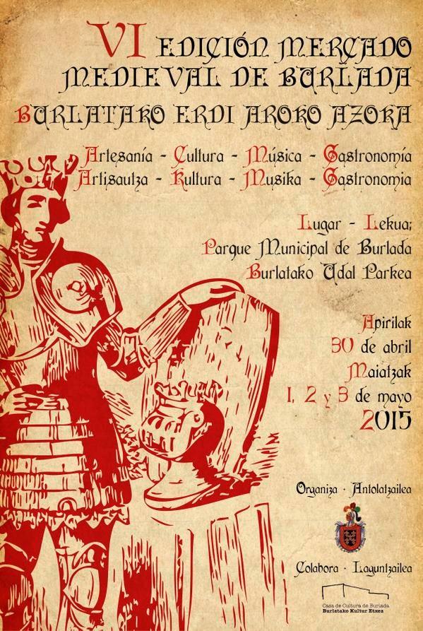 Programa del Mercado medieval en Burlada mayo