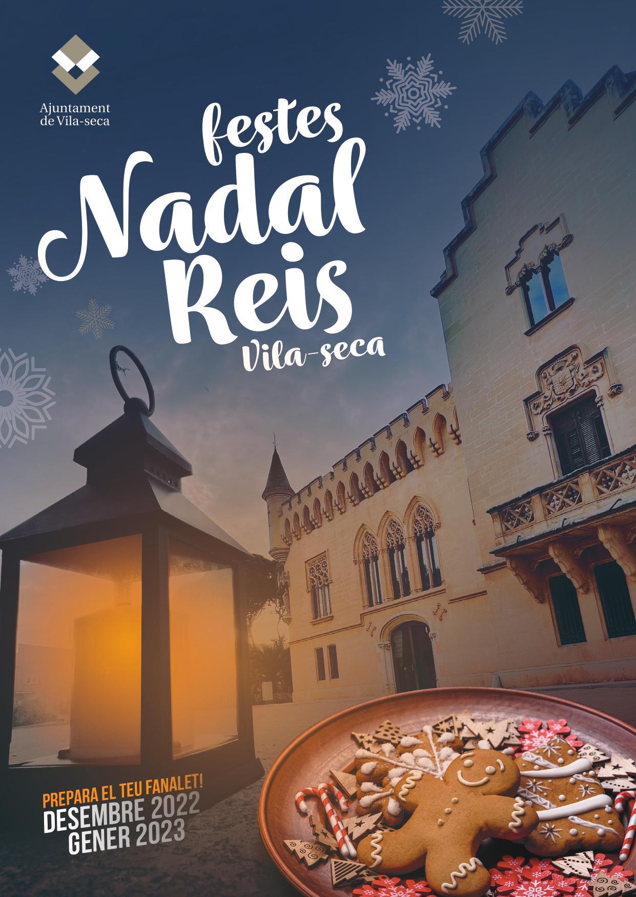 Programa de las actividades en el pessebre de sorra en Vila Seca