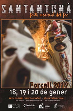 Programa de la Santantonà de Forcall Festa Medieval del Foc