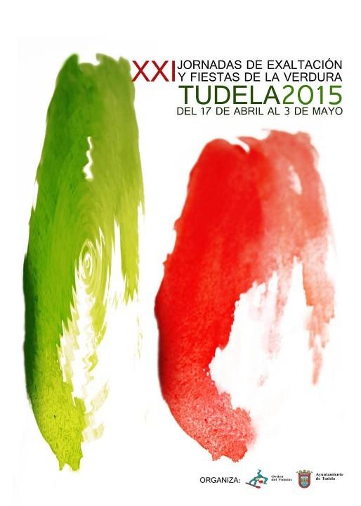 Cartel de las Fiestas de la Verduras en Tudela 2015
