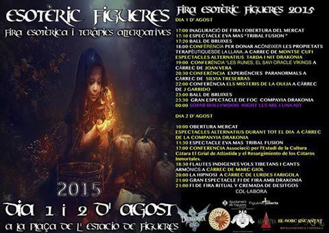 Programa de la Fira Esotèrica en Figueres