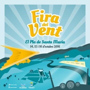 Programa de la Fira del Vent en el Pla de Santa Maria