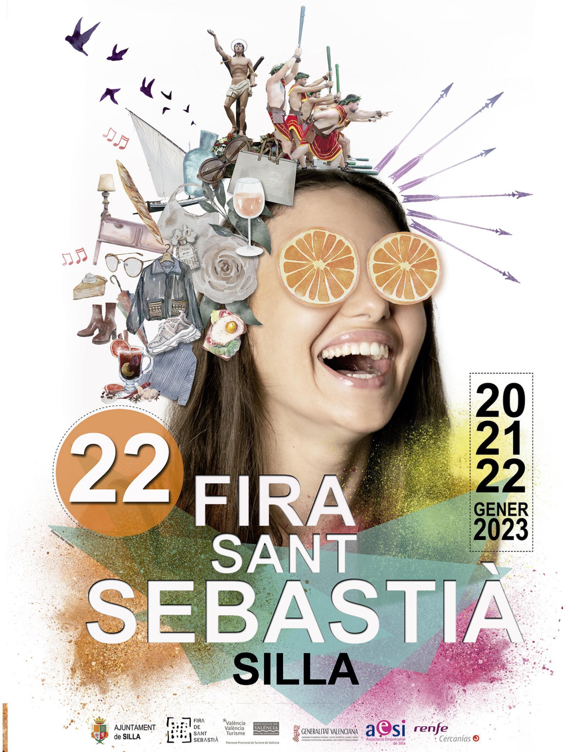 Programa de la Fira de Sant Sebastià en Silla