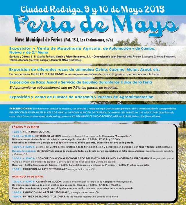 Programa de la Feria de Mayo en Ciudad Rodrigo