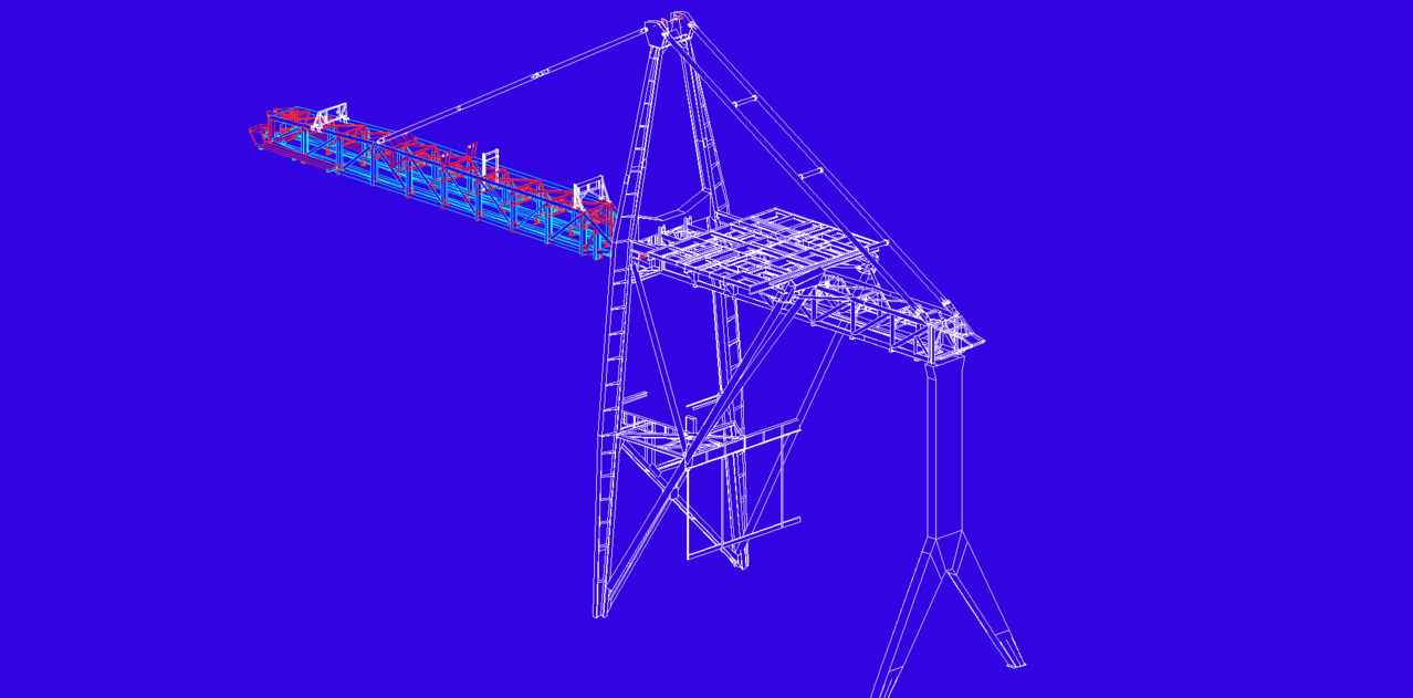 Modeling gantry crane, loading unloading, container door - NEW CALEDONIA