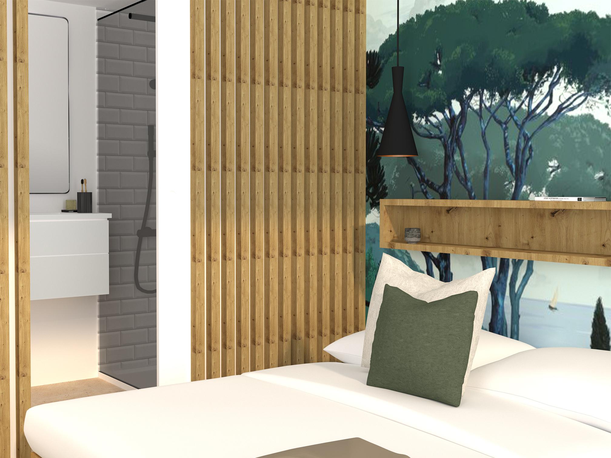 Aménagement d'un studio par Flora Boscher   architecte d'intérieur   Var