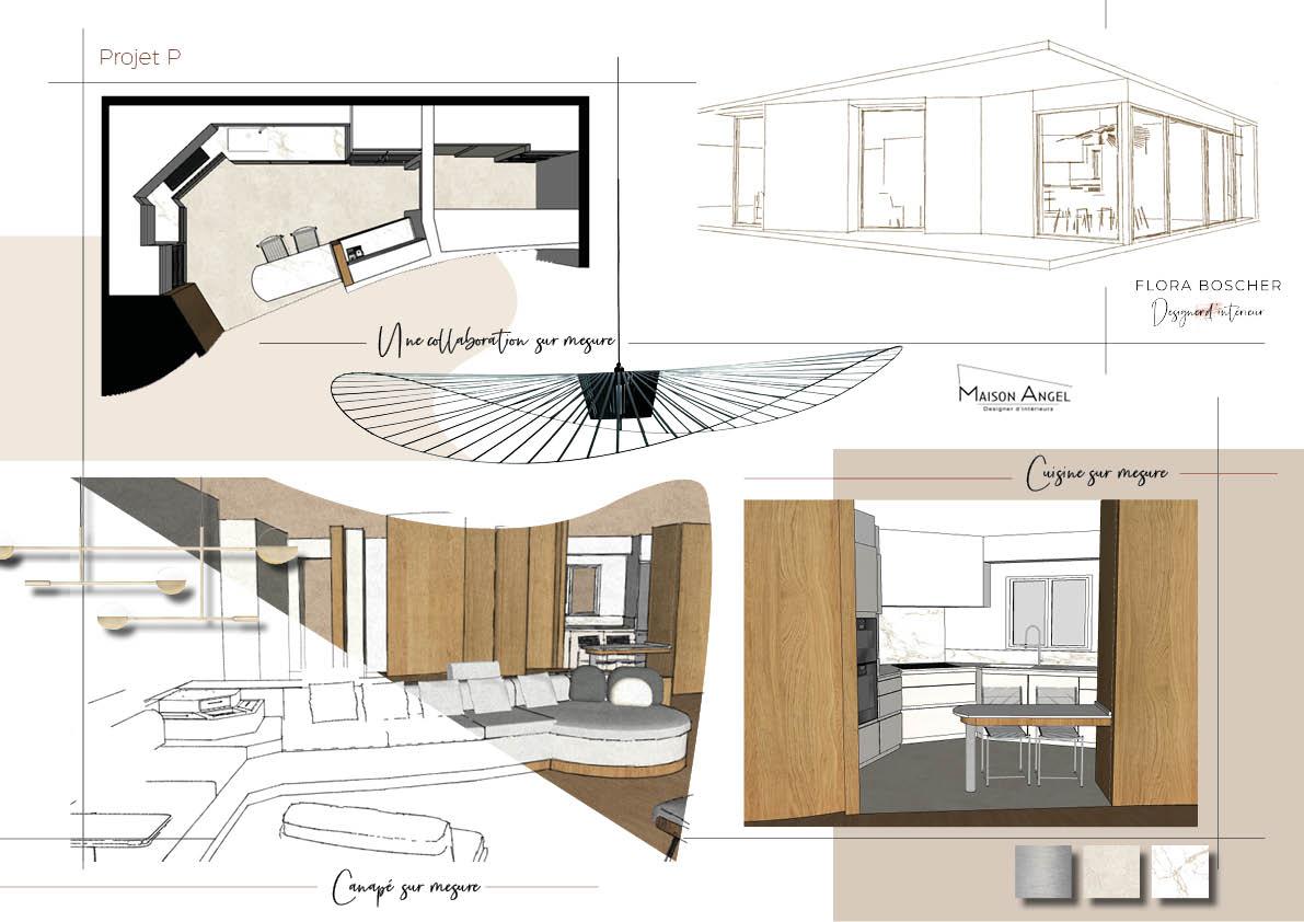 Architecture intérieure sur mesure par Flora Boscher à Sanary