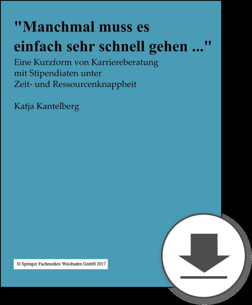 Kurzfassung Karriereberatung, Dr. Katja Kantelberg