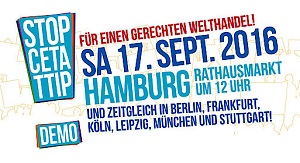 TTIP-Demo Hamburg 17.9.2016