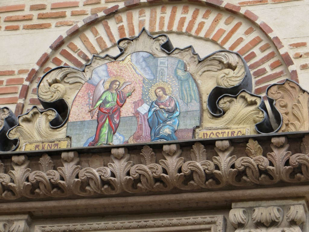 Votivbild über dem Kirchenportal (Biserica Curtea Veche)