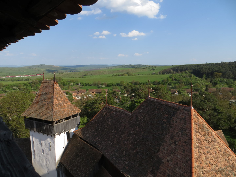 Blick vom Turm der Kirchenburg auf Viscri