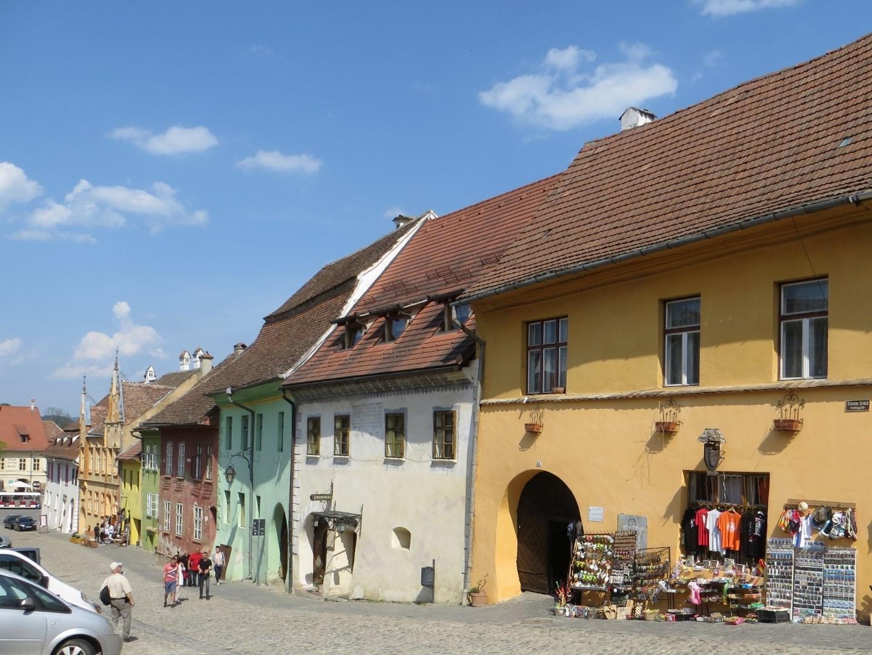Typische Häuser in Sighisoara (Schäßburg)