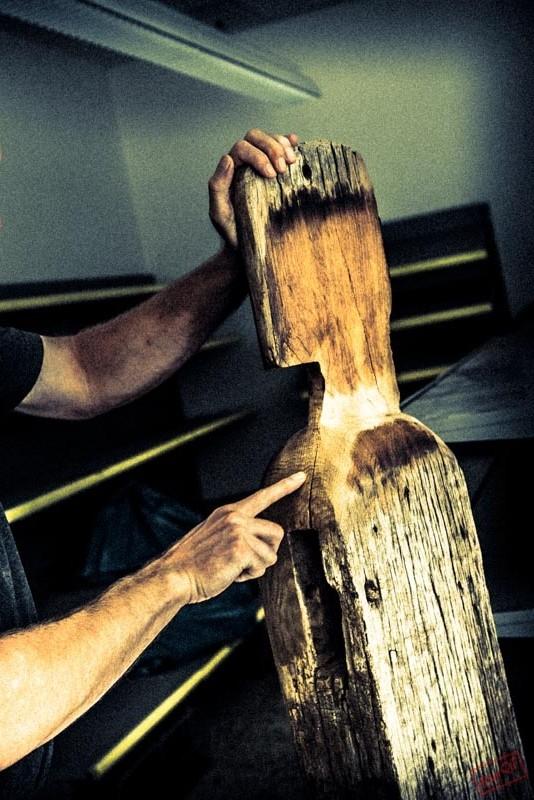 Wächter - aus bis zu 400 Jahre alten Eichebalken
