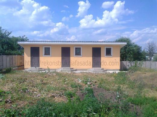 здание после выполненения фасадных работ, г. Умань