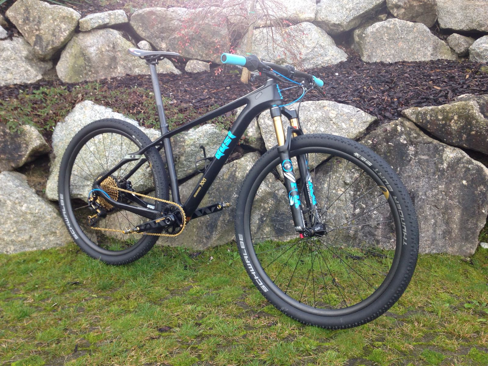 The blue beauty! The first weapon from dustcycle with Sram XX1 Eagle (1x12)