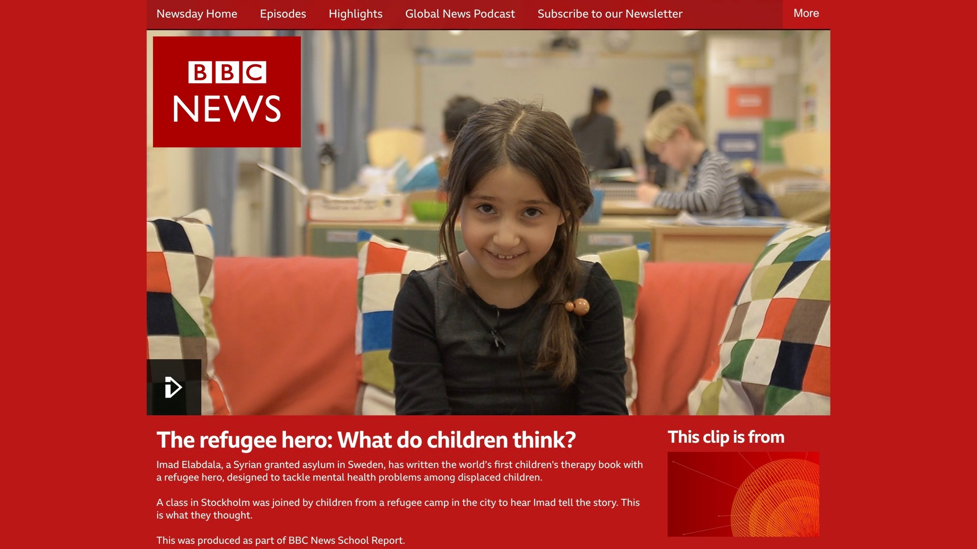 BBC News coverage. Watch the full report here!